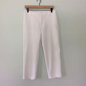 NWOT Charter Club Scallop Hem White Capri Size 4
